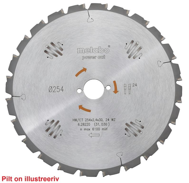 Saeketas 254x2,4/1,8x30, z24, WZ, -5°, Power Cut., Metabo