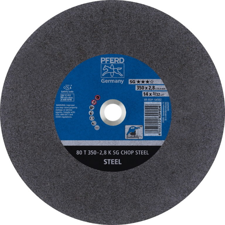 Pjov.disk.metalui 350x2,8/25,4mm A36 K SG-CHOP, Pferd