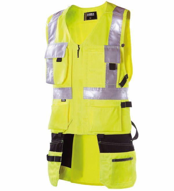 Signalinė liemenė su kišenėmis, geltona, Dimex