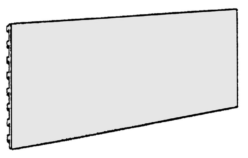 Stendo plokštė neperforuota 40x100 cm, Metabo