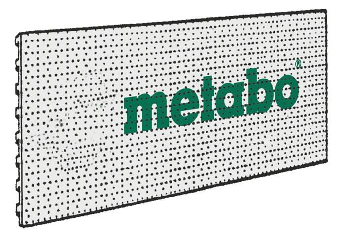 Perforuota stendo plokštė su  logo 40x100 cm, Metabo