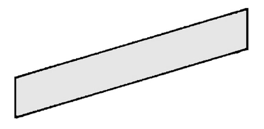 Dekoratyvinė plokštė 100x16 cm, Metabo