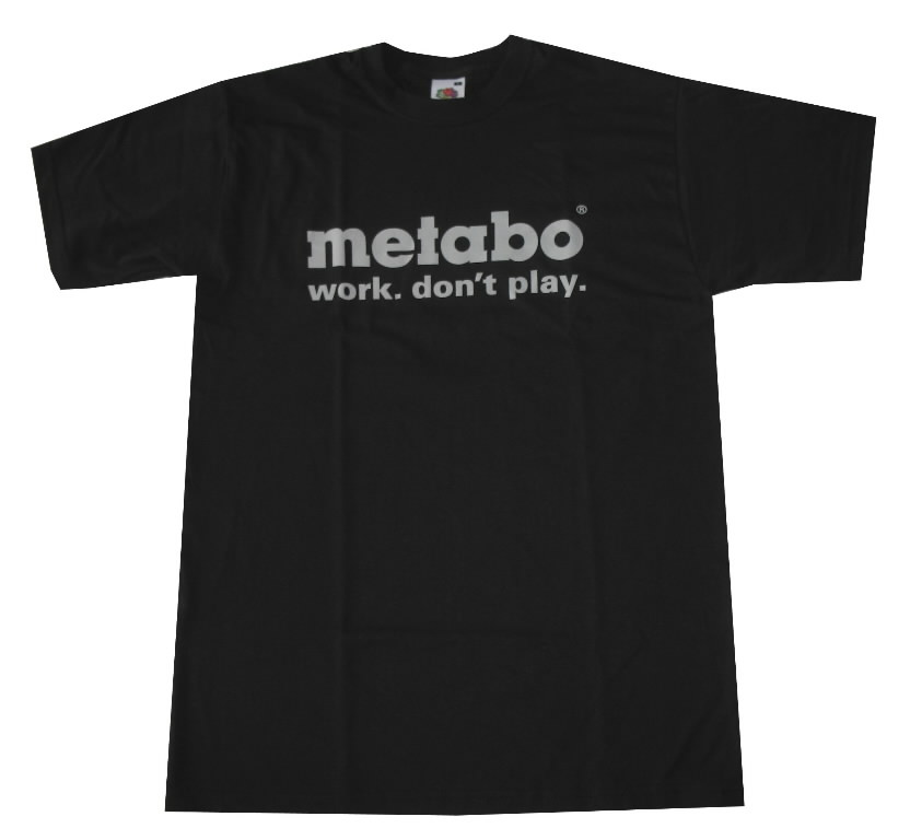T-shirt for women, XL, Black, Metabo