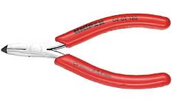 Žnyplės priekinio kirpimo įžambios, dvispalvės, su spyruokle, Knipex