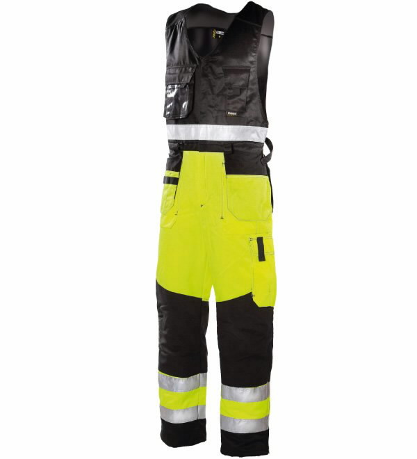 Hi-Vis puskombinezonis  6490 geltona/juoda, M, Dimex