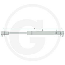 Gaasiamort STABILUS A-900mm, B-455mm, C-10mm, D-10mm, Granit