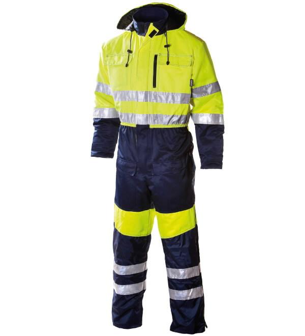 Talvekombinesoon kapuutsuga  655 t-sinine/kollane, Dimex