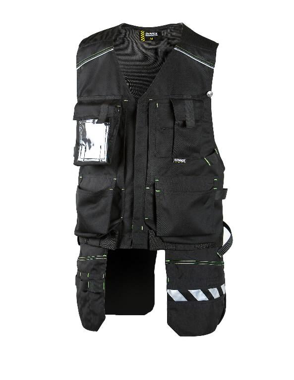 Liemenė su kišenėmis, juoda,  677 L, Dimex