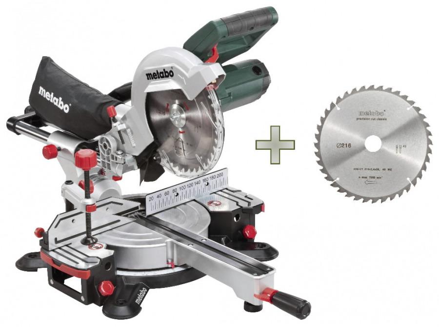 Crosscut and mitre saw KGS 216 M + sawblade 628060000&MET, Metabo