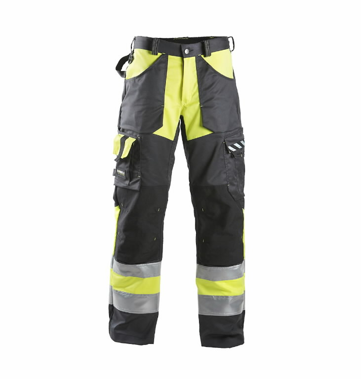 Hi. vis trousers  698  black/yelow, Dimex