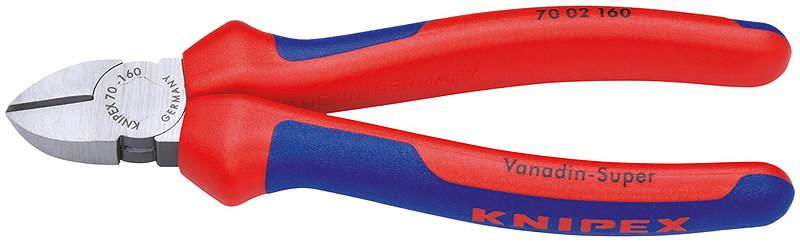 Žnyplės šoninio kirpimo, dvispalvės 160 mm, Knipex