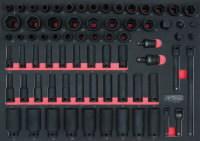 """löökpadrun kmpl 3/8""""+1/2"""" 73-osa 1/1 moodulis SCS, KS Tools"""