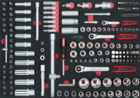 """padrun kmpl 1/4""""+3/8""""+1/2"""" 180-osa 1/1 moodulis, KS Tools"""
