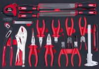 SCSreplių  ir dildžių komplektas 18 vnt, 1/1 modulis, KS tools
