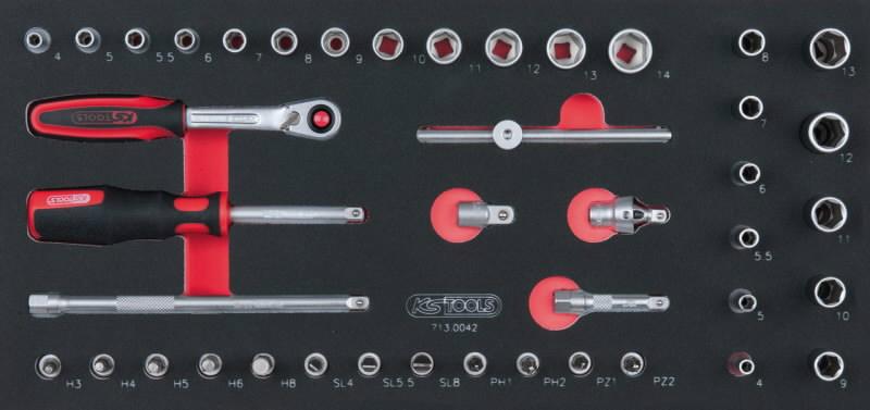 """socket set 1/4"""" 1/3 system insert, KS Tools"""
