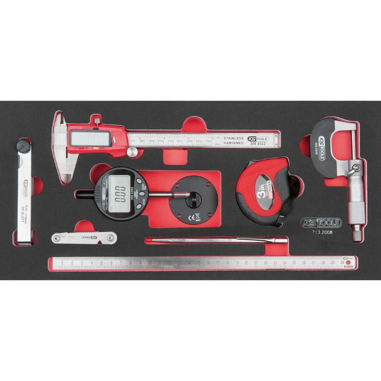 Matavimo įrankių komplektas 8 vnt, 1/3 modulis, KS tools