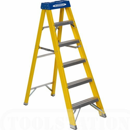 Fibreglass swingback stepladder trade 5 tread 71600, Abru