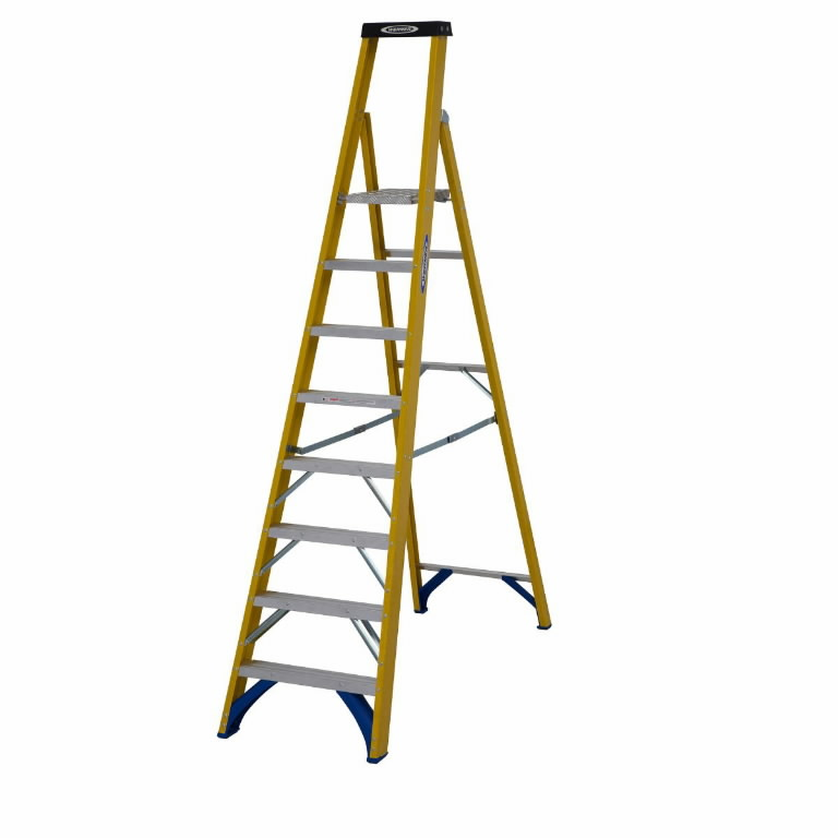 Stepladder Fibreglass Platform 6 Tread 71700, Abru