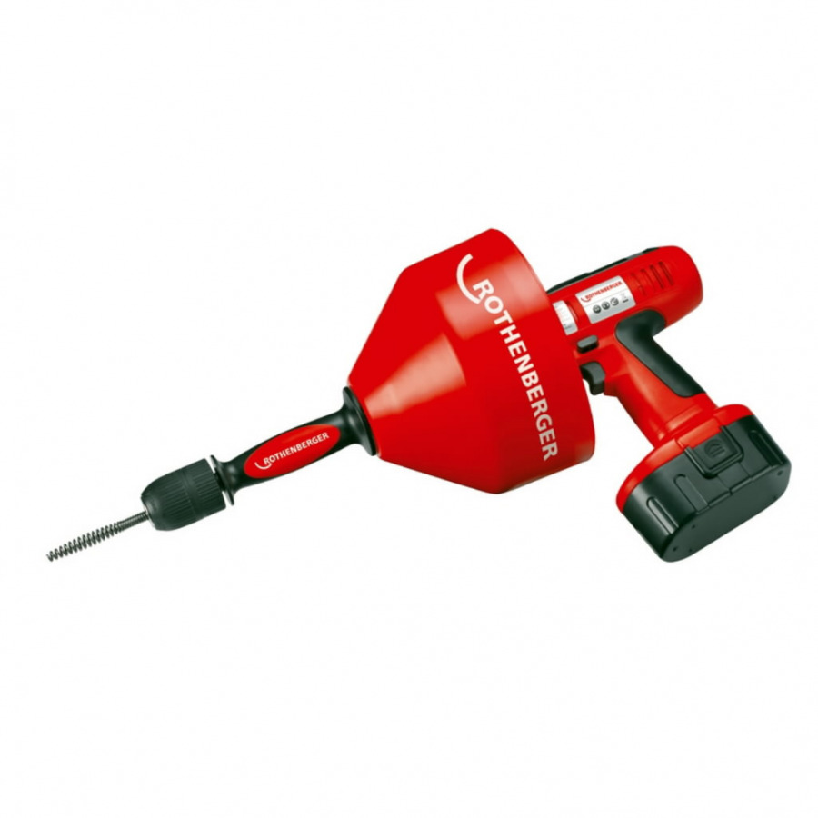 Drain cleaner ROSPI R36 Plus, standard 230V 8mm x 7,5m el., Rothenberger