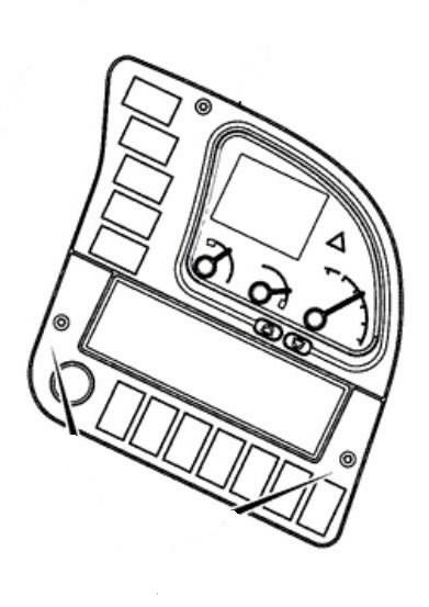 Skydelis prietaisų, dešinės pusės, JCB