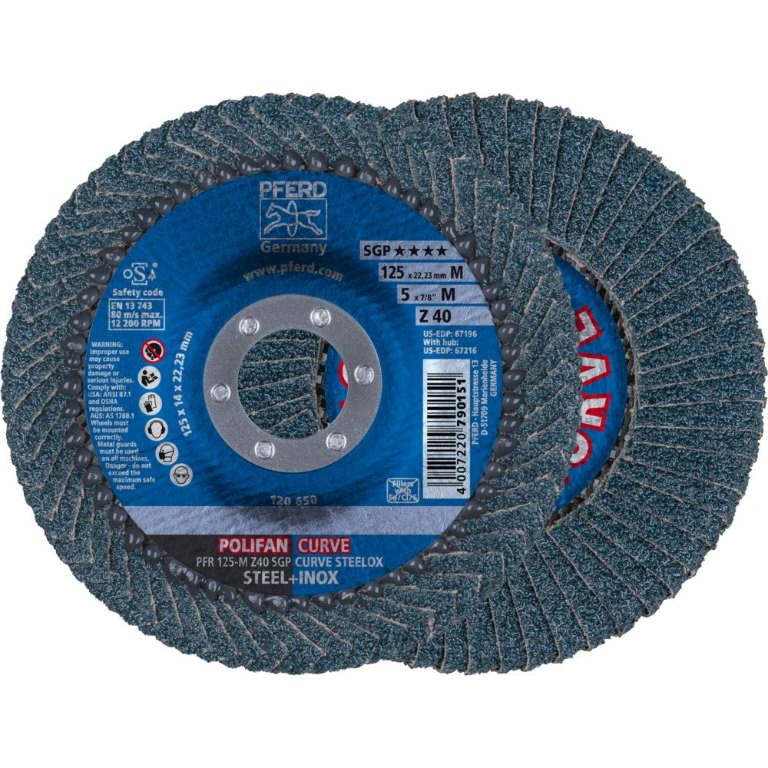 Vėduoklinis diskas 125mm Z40 SGP CURVE M, >5mm, Pferd