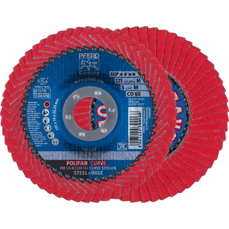 Vėduoklinis diskas 125mm CO60 PFR SGP-CURVE M >5mm, Pferd