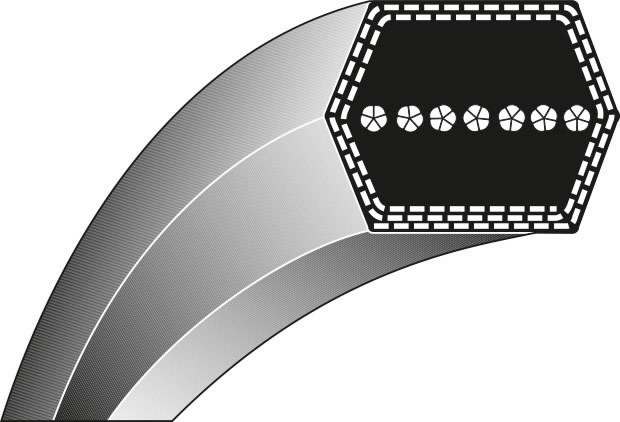 Keilriemen AA112, Ratioparts