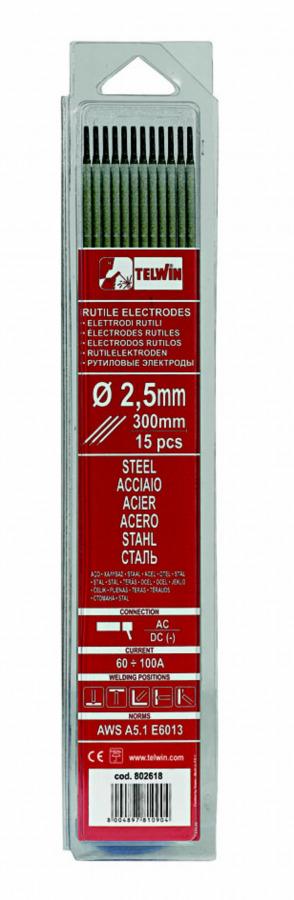 k.elektroodid RUTILE 2,0x300mm 15tk, Telwin