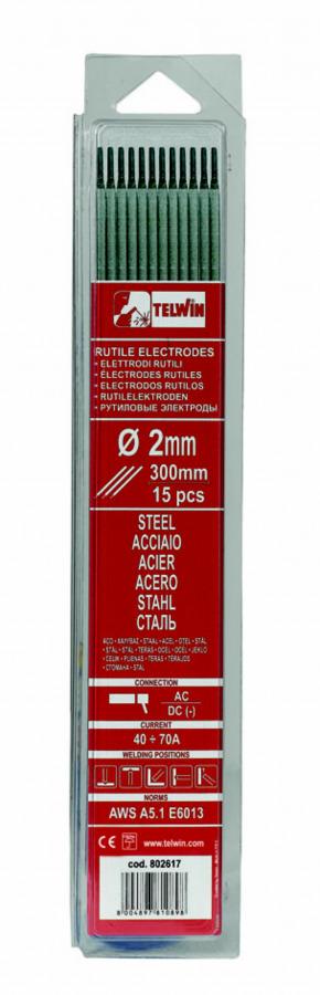 k.elektroodid RUTILE 2,5x300mm 15tk, Telwin