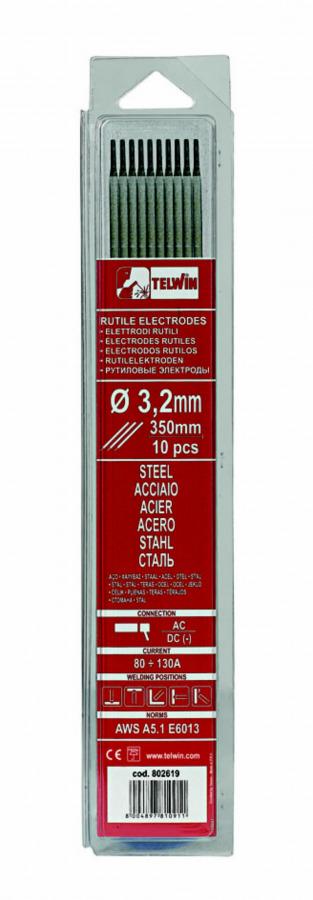 k.elektroodid RUTILE 3,2x300mm 10tk, Telwin