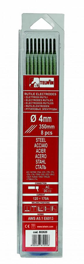 k.elektroodid RUTILE 4,0x350mm 8tk, Telwin