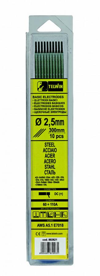 k.elektroodid BASIC 2,5x300mm 10tk, Telwin