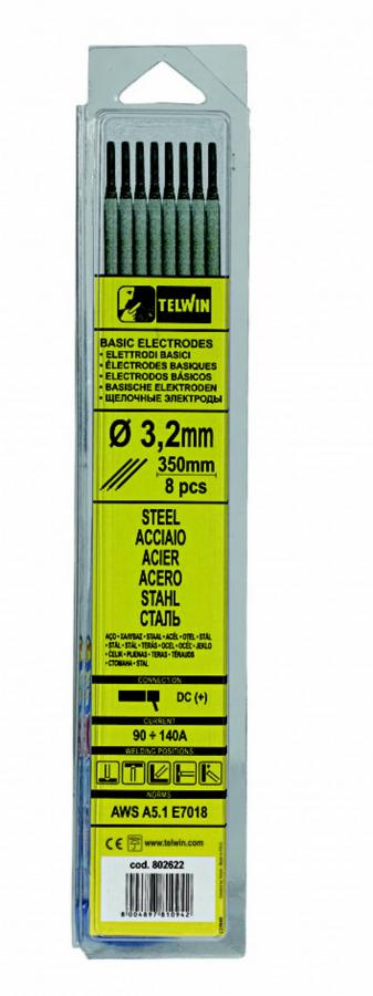 k.elektroodid BASIC 3,2x350mm 8tk, Telwin