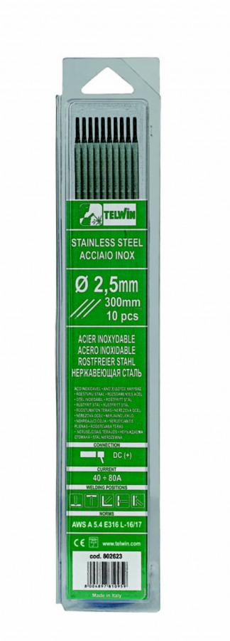 k.elektroodid INOX 2,5x300mm 10tk, TELWIN