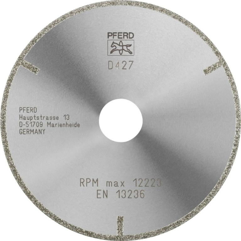 Deimantinis diskas 125x2x1mm D 427 GAG D1A1R, Pferd