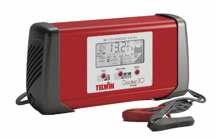 6-12-24V electronic battery charger Doctor Charge30, Telwin