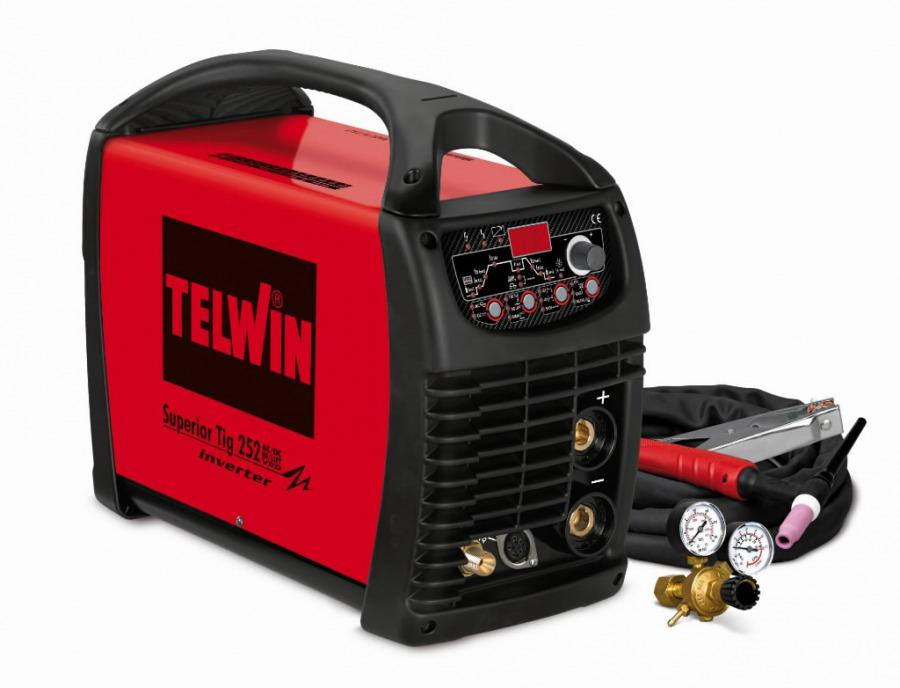 TIG aparatas Superior TIG 252 AC/DC-HF/LIFT+Tig priedai, Telwin