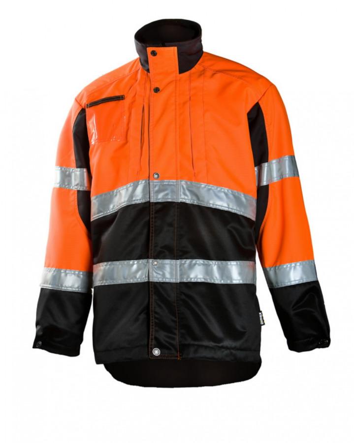 Miškininko švarkas  830 oranžinis/juodas L, Dimex