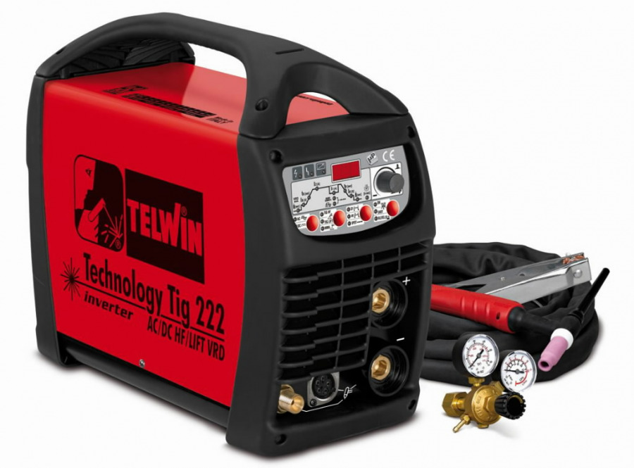 TECHNOLOGY TIG 222 AC/DC-HF/LIFT+TIG acc.(ex 852031), Telwin