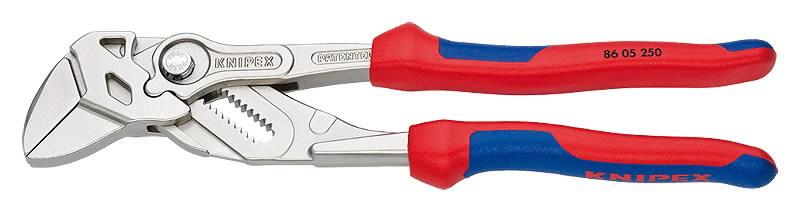 Replės-raktas, dvispalvės, 250 mm, Knipex