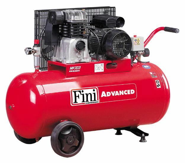 Kompresorius MK Advanced, su diržine pavara, 230V 2,2KW 90L, Fini