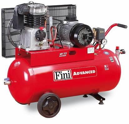 Stūmoklinis kompresorius MK Advanced 400V 3KW 90L, Fini