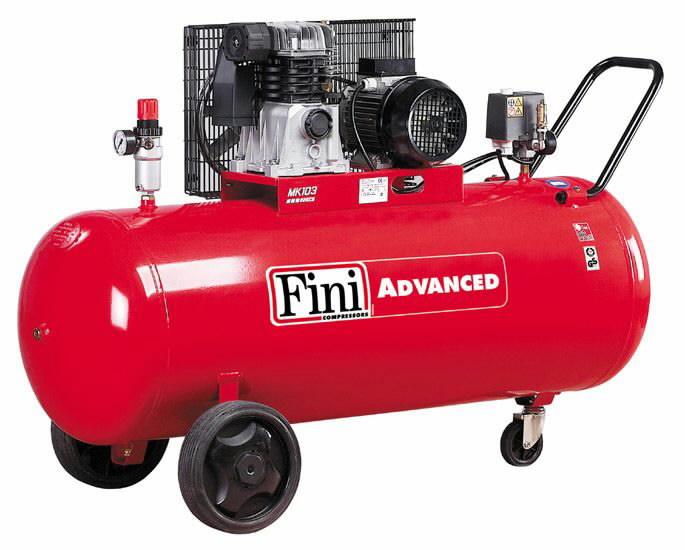 Kompresorius MK Advanced, su diržine pavara, 400V 2,2KW 200L, Fini