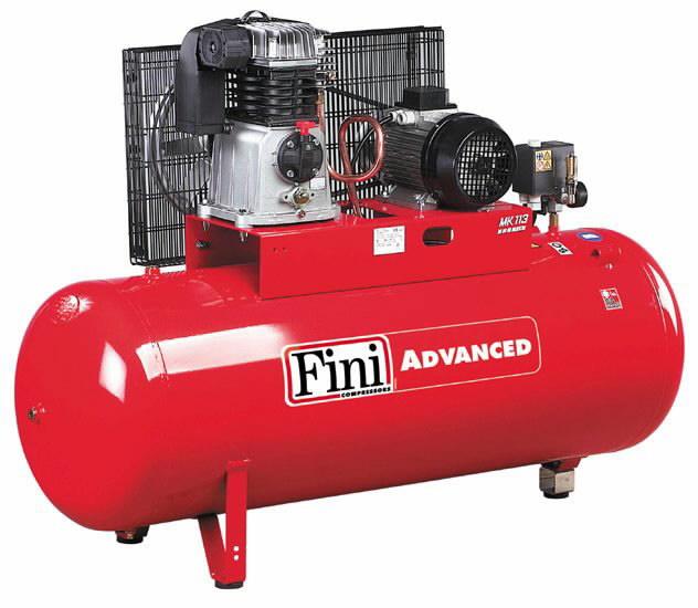 Kompresorius MK Advanced, su diržine pavara, 400V 3KW 200L, Fini