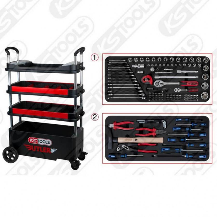 BUTLER įrankių spintelė su 175vnt įrankių kompl., KS tools