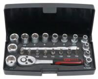23PCS 1/4´´ SOCKET- AND BIT-SET, KS Tools