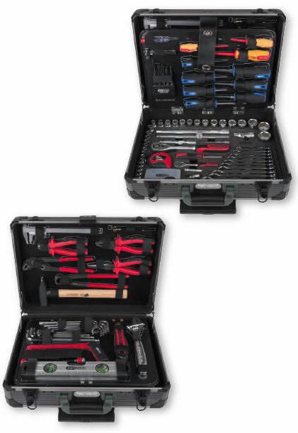 """1/4"""" + 1/2"""" universalus įrankių komplektas 130 vnt, KS tools"""