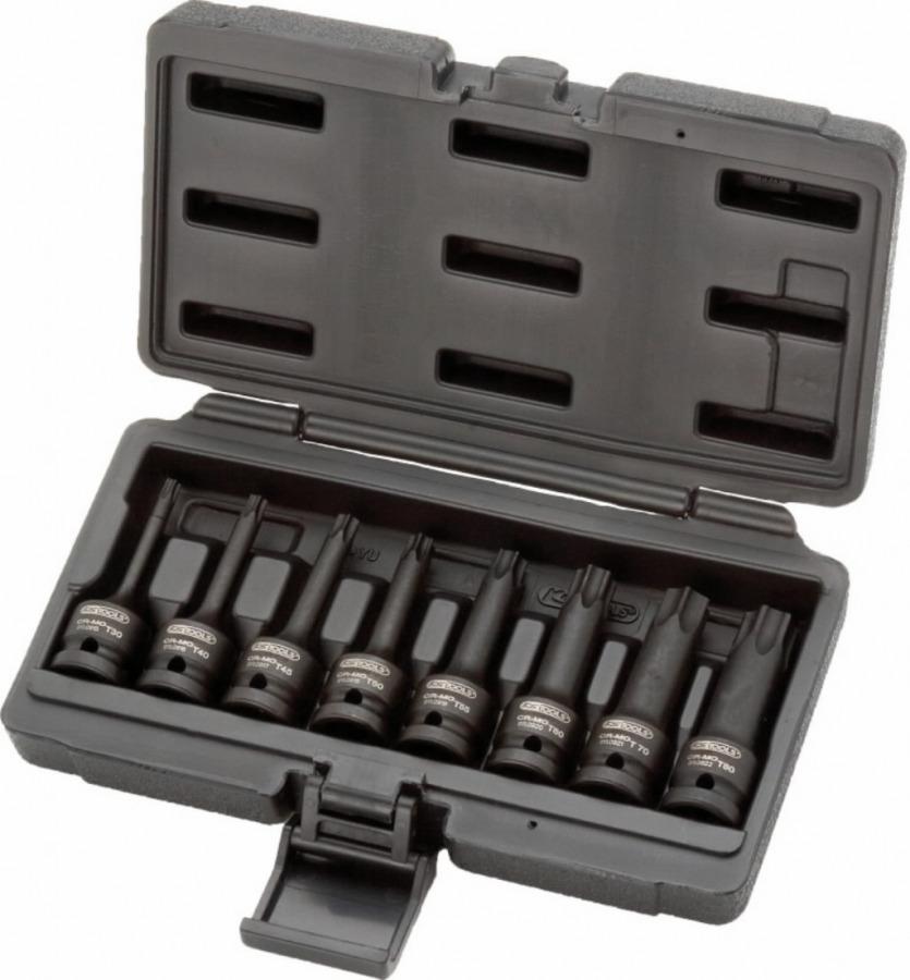 """löökpadrun TORX kmpl 1/2"""" T30-T80 8-osa pikk, KS Tools"""