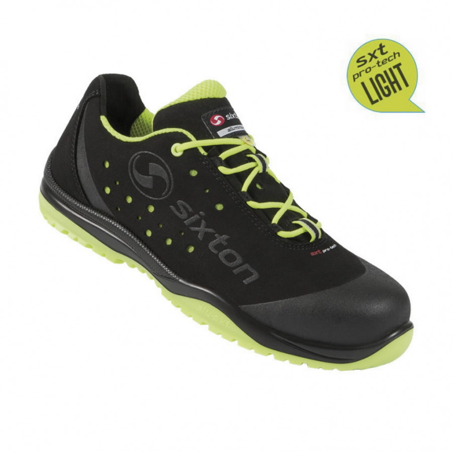 Apsauginiai batai Cuban 01L Ritmo, juoda/geltona S1P ESD SRC 46, Sixton Peak