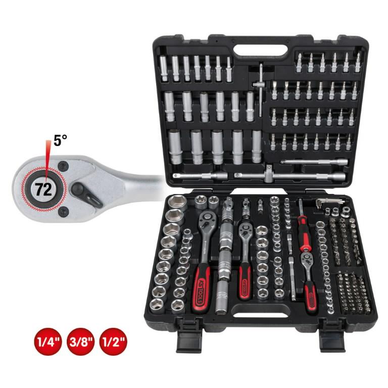 socket set 1/4+3/8+1/2'' 195pcs, KS Tools